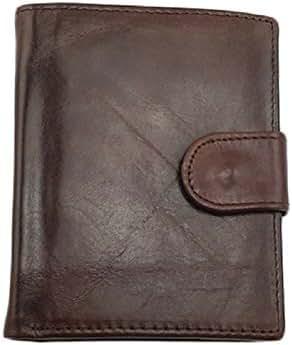 NEWTALL Men's Genuine Leather Multi-Card Folded Vintage Bifold Short Type Wallet