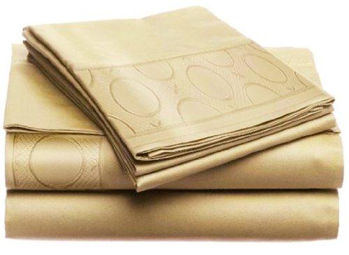 TAUPE by Home Dynamix 2-JMA-179 Allegra KING 4pc Sheet Set LUXURIOUS Jill Morgan Embroided