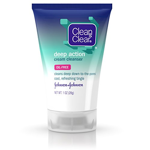 Clean & Clear Deep Action Cream Facial Cleanser, 1 Oz.