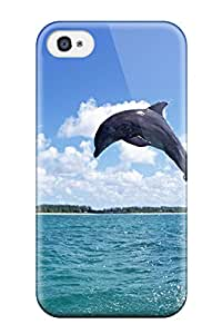 Hot Tpu Cover Case For Iphone/ 4/4s Case Cover Skin - Dolphins