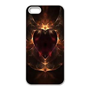 Heart Abstract IPhone 5,5S Cases, Vety {White}