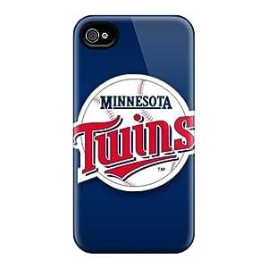 AlissaDubois Iphone 4/4s Scratch Resistant Hard Phone Case Custom Attractive Minnesota Twins Image [tGM8343vtZl]