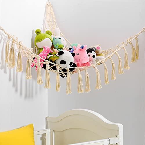 Stuffed Animal Toy Hammock Hanging-Handmade Large Macrame Hammock...