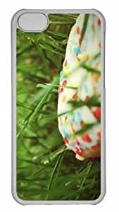 Customized iphone 5C PC Transparent Case - Donut In The Grass Personalized Cover