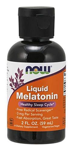 Liquid Melatonin 3mg (Pack of 4) Now Foods 8 oz. (4 x 2 oz.) Liquid