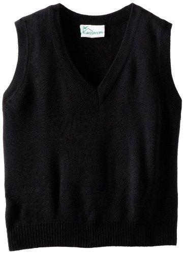 CLASSROOM Big Boys' Uniform Sweater Vest, Black, (Black Sweater Vest For Boys)
