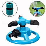 CHHUI Lawn Sprinkler Garden Water Hose Spray Irrigation System, 33 ft Coverage Adjustable Nozzle 360 Degree Automatic Rotating