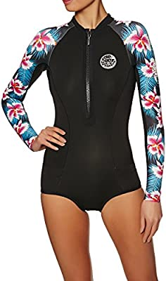 Rip Curl 2018 Womens G-Bomb 1mm LS Front Zip Hi Cut Shorty Wetsuit Black  Sub WSP7LW. Loading Images. 0a88e125a
