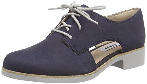 Clarks Hamble Myth - Zapatos de cordones derby Mujer Azul (Navy Nubuck)