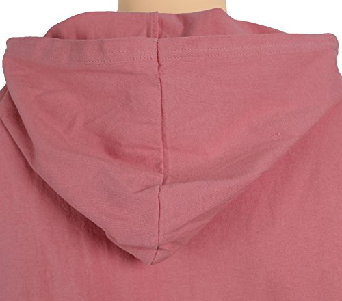 MAJECLO Mens Lightweight Cotton Pullover Long Sleeve Hoodie Sweatshirt(Large,Pink) by MAJECLO (Image #6)