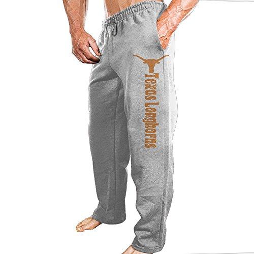 Men's Texas Longhorns Customized Regular Sweatpants Ash Size XXL