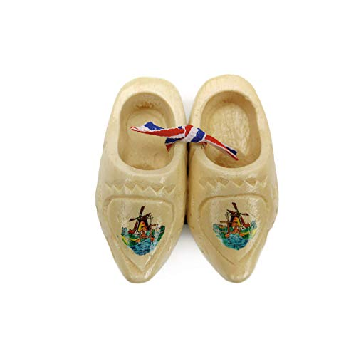 Essence of Europe Gifts E.H.G Holland Wooden Shoes Magnet Gift Carved (2.5