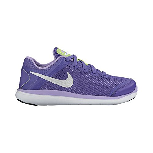 Nuevo Nike Flex 2014RN de la niña calzado deportivo Dark Iris/metallic Silver/urban Lilac