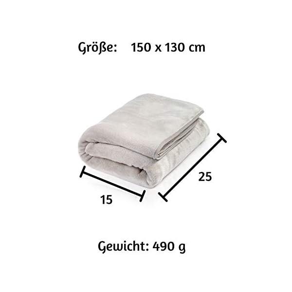 41cpiT8ROSL ALTERA LA VITA Reise-Decke, Kuscheldecke aus Fleece - warm und weich - gut komprimierbar mit Tasche - 150x130 cm - für…