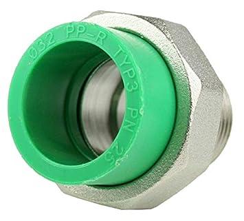 PPR Aqua de acoplamiento Plus rosca exterior, 32 mm x 1 pulgadas: Amazon.es: Bricolaje y herramientas