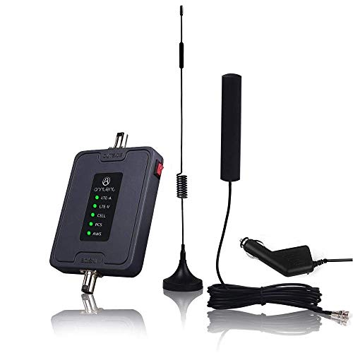 Cell Phone Signal Booster for Car, Truck and RV - Multiple Band Cellular Repeater Kit for All Carriers 2G 3G 4G LTE Boost Voice & Data Signal for Verizon AT&T T-Mobile (Band 2/4/5/12/13/17) ()