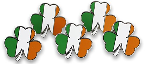 Irish Flag TriColor Shamrock Enamel Lapel Pins- Saint Patrick's Day Pins (Wholesale) (25 Pins)