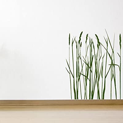 Long Grass And Reeds Nature Flowers And Trees Wall Stickers Home Decor Art Decal available in 5 Sizes and 25 colors