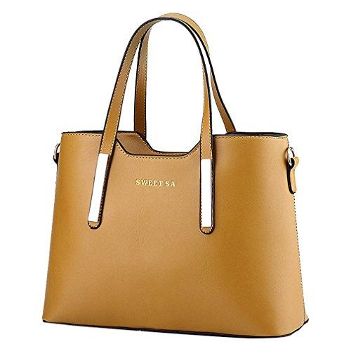 ADOO Women Handbags Shoulder Bags Zipper Messenger Bag Khaki