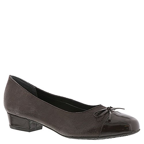 Ros Hommerson Women's Tawnie Pump,Brown Snakeskin/Patent Leather,US 11 S