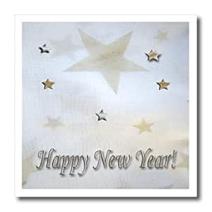ht_18756_1 Beverly Turner New Years Design - Gold and Silver Happy New Years - Iron on Heat Transfers - 8x8 Iron on Heat Transfer for White Material