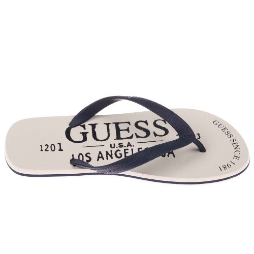 Guess - Chaussures tongs - L (43-44) - Blanc - Homme