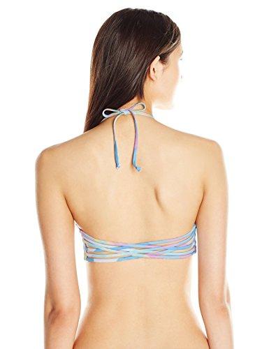Mara Hoffman Women's Fractals Basket Weave Bikini Top, White/Multi, Medium