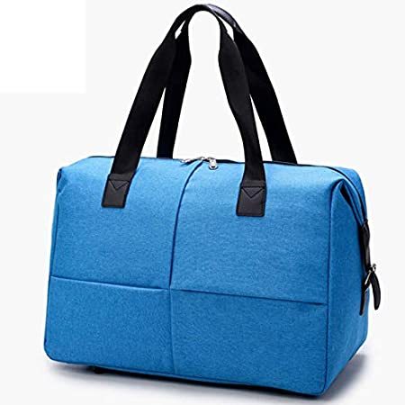 TRAV/&DUFFLGGS Weekend Travel Bags 30L Carry On Luggage Bag Duffel Bags Overnight Waterproof Blue Canvas Trolleys Cabin Luggage