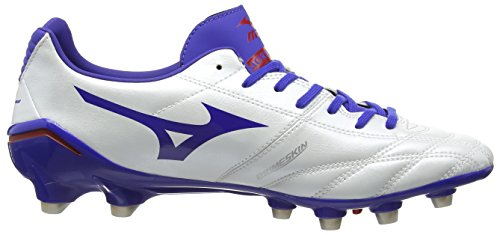 Mizuno Morelia Neo Ps Md - Zapatillas de rugby Hombre Blanco - White (Pearl/Surf the Web/Chinese Red)