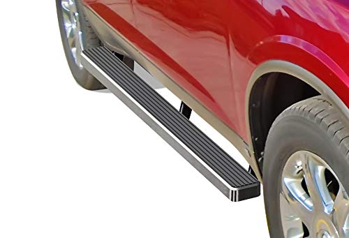 APS iBoard (Silver 4 inches) Running Boards Nerf Bars Side Steps Step Rails Compatible with 2007-2017 Chevy Traverse & 2007-2009 Buick Enclave (Exclude Denali) ()