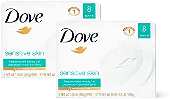 Dove Beauty Bar Gently Cleanses and Nourishes Sensitive Skin Effectively Washes Away Bacteria While Nourishing Your...