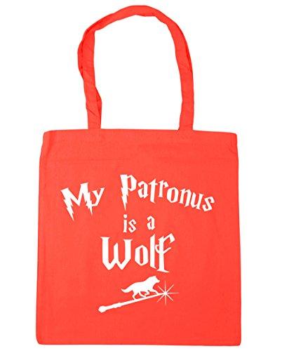 HippoWarehouse My Patronus Ist Ein Wolf Einkaufstasche Fitnessstudio Strandtasche 42cm x38cm, 10 liter - Koralle, One size