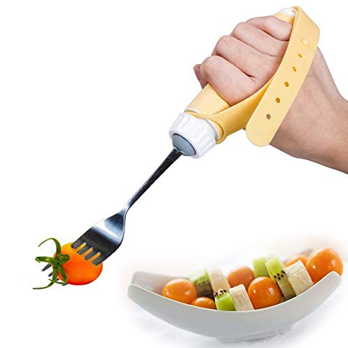 BIHIKI Eating Aids,360° Rotating Swivel Fork Handicap Eating Aid for Weakness Grip, Stroke, - Swivel Fork