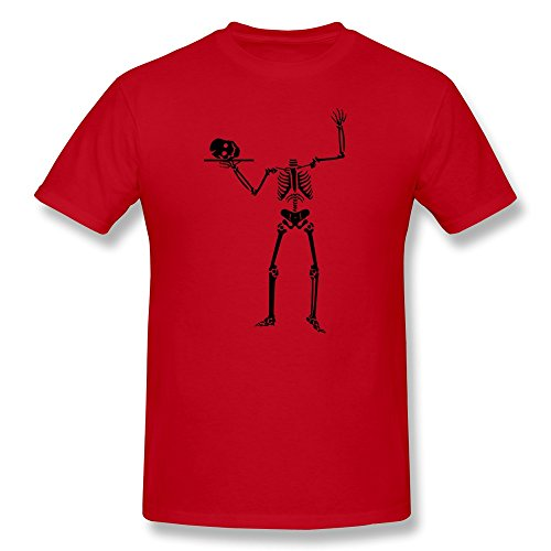 Spooky Happy Halloween O Neck Men Tshirt Red Size S Retro By Rahk -
