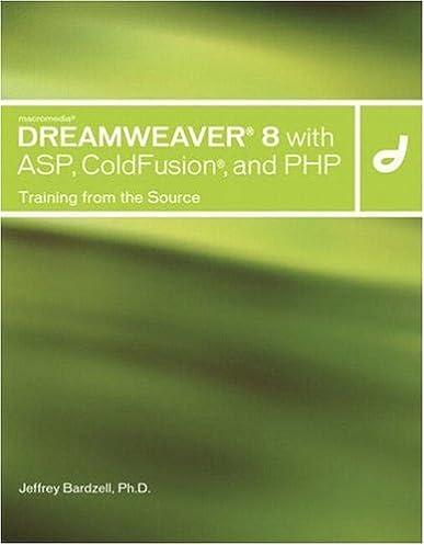 macromedia dreamweaver 8 with asp coldfusion and php training rh amazon com