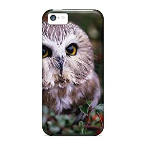 Tpu Case Cover For Iphone 5c Strong Protect Case - Animals Owlet Design