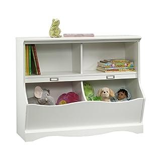 "Sauder 414436 Pogo Bookcase/footboard, L: 41.10"" x W: 14.49"" x H: 32.84"", Soft White (B00B2QU5YW)   Amazon Products"