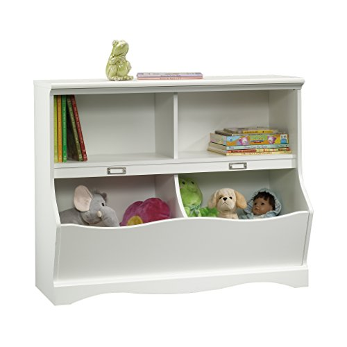 Sauder Pogo Bookcase/Footboard, Soft White (Panel Footboard Nightstand Set)