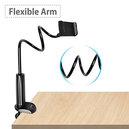 Tryone Gooseneck Phone Holder - Flexible Arm Mount Stand for iPhone Series/ Samsung Cellphones/ Google Pixel and more, 27.5in Overall Length Photo #4