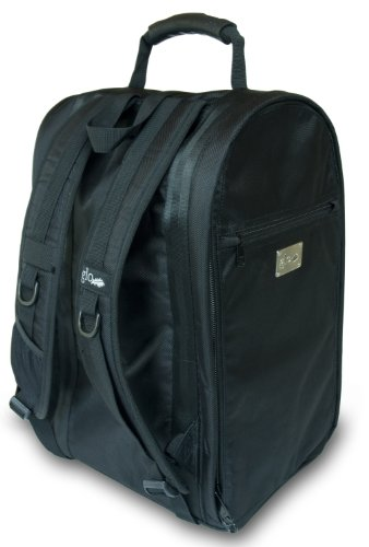 The Glo Bag - The Ultimate Gym Locker Organizer Backpack: Solid Black