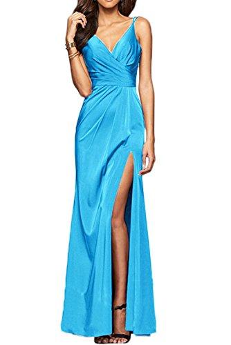 Blau La Etuikleider Schwarz Lang Partykleider Brautjungfernkleider Festlichkleider mia Elegant Abendkleider Braut Chiffon xanSfAx