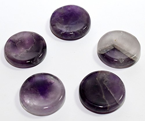 - 38mm Natural Dream Amethyst Quartz Stand for Spheres/Eggs Polished Crystal Mineral Specimen Purple Gemstone Stand from India - 1PC