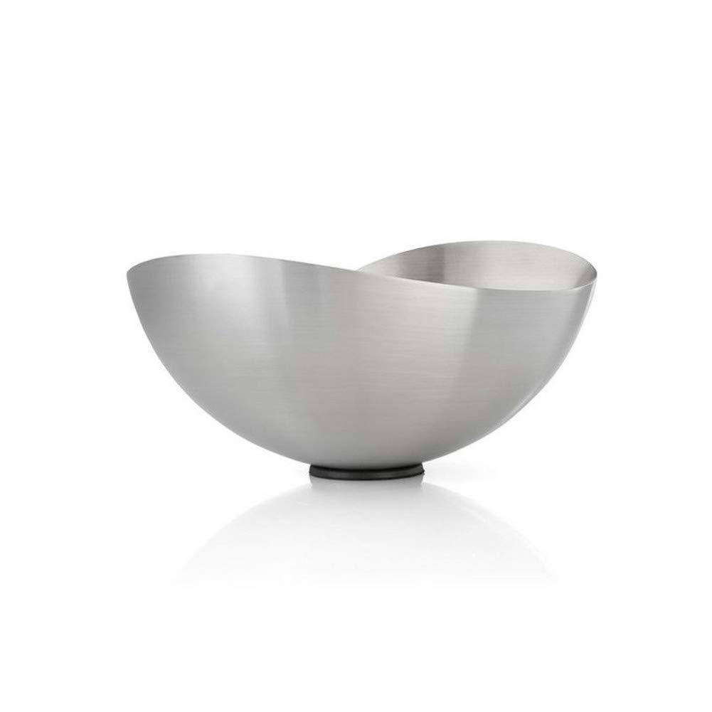 Fruit Dish Stainless Steel Serving Bowl,Fruit Bowl Multipurpose Fruit Basket Metal Wave Fruit Plate for Fruit Vegetables Snacks-b