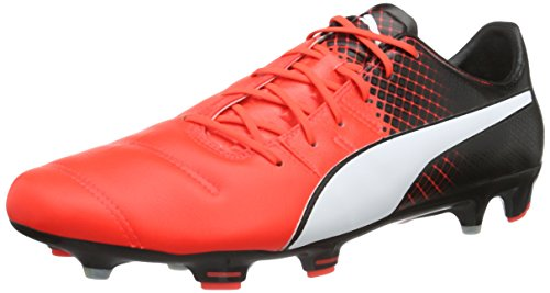Puma Zapatillas De Fútbol Evopower 1.3 Lth Fg 103850 01 Football Hombres Blast-puma Rojo Blanco-puma Black 01