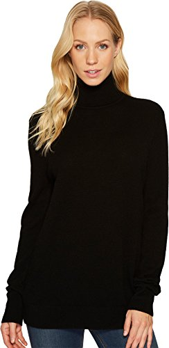 Equipment Women's Oscar Turtleneck Cashmere Sweater, Black, X-Small