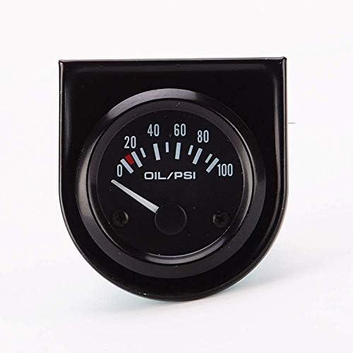 """WY-WY エンジン、船舶、修正車のインパネ0-100 PSIライン2"""" 、機械式オイル圧力計"""