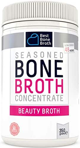 Premium Collagen Bone Broth - Slow-Cooked For 48 Hours For Max Anti-Aging Nutrition - Full of Collagen Types 1 & 3, For Hair, Skin & Nails, No Hormones or Additives - Bone Broth Collagen