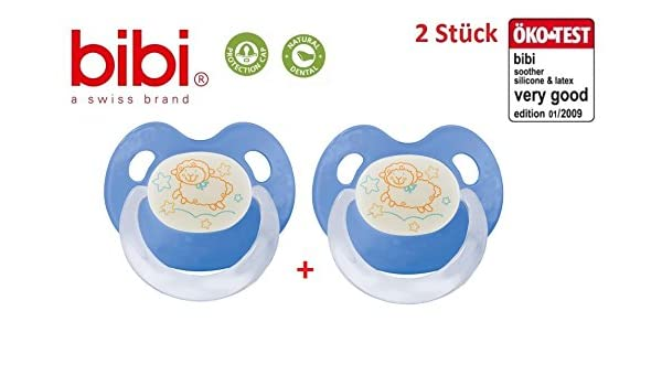Bibi Swiss Blue Sheep de noche/día 2 x Chupetes Dental ...