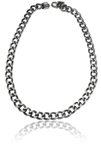 """Men's Stainless Steel Chunky Curb Link Necklace 20"""""""