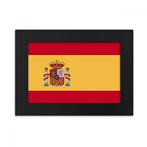 DIYthinker Spain National Flag Europe Country Desktop Photo Frame Black Picture Art Painting 5x7 inch by DIYthinker